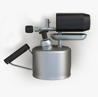 gasoline blowtorch gas 3d model