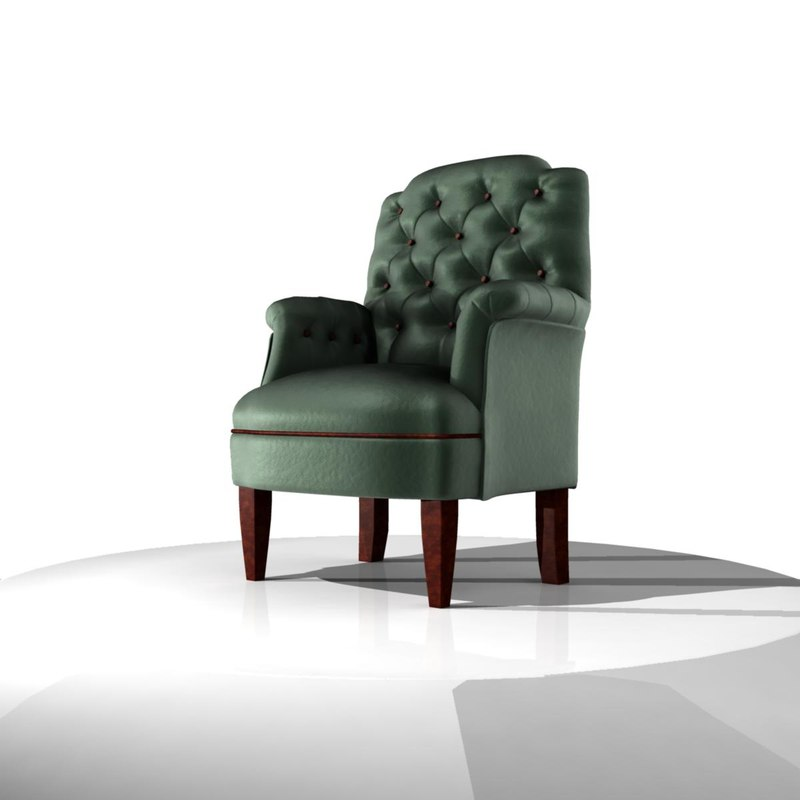 3d model classic armchair sofa