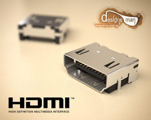 hdmi connector type-a 3d max