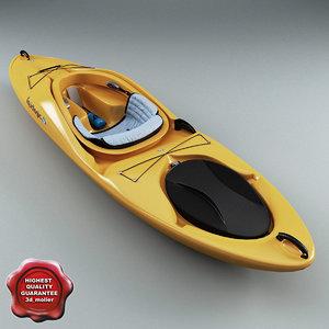 3d model kayak liquid logic remix