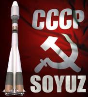 soyuz space rocket soyuz-st 3d max