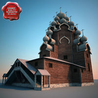 Russian Wooden Church in Kizhi