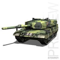 3d - 2 battle tank model
