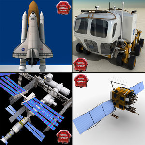 spacecraft space shuttle 3d max
