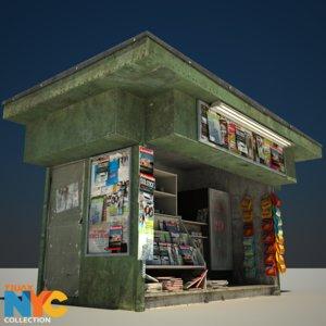 3d news stand studios model