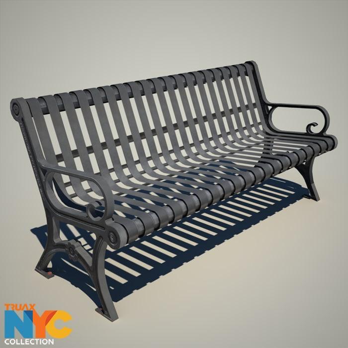 park bench studios 3d max