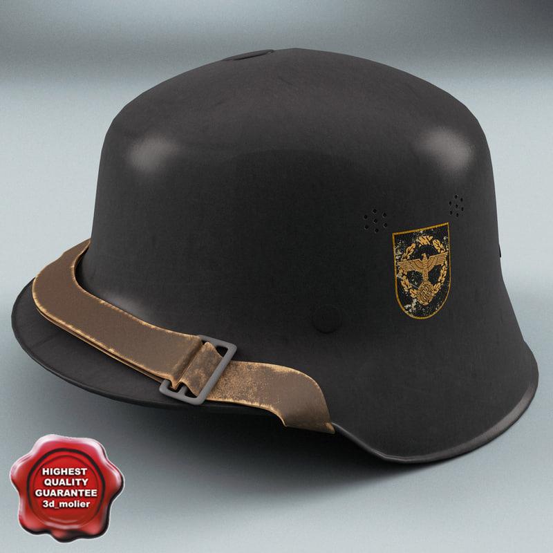 wwii german helmet m35 3d model