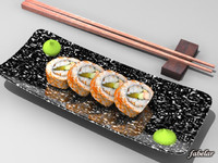3d california maki roll