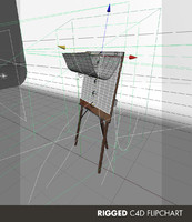 3d flip chart animation rigged