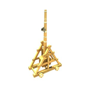 3d model trebuchet heavy artillery