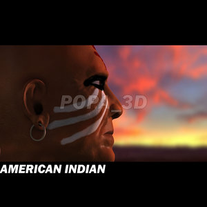 american indian head 3d model