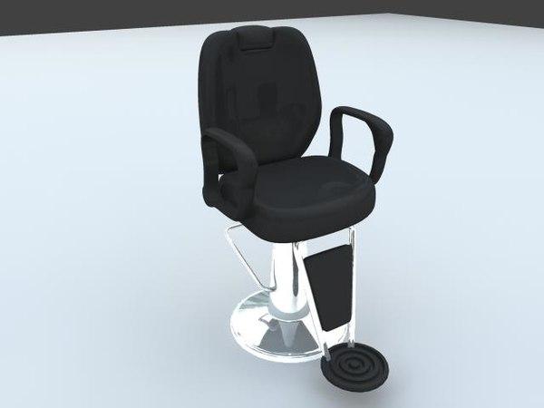 hairdresser coiffeur chair 3d max