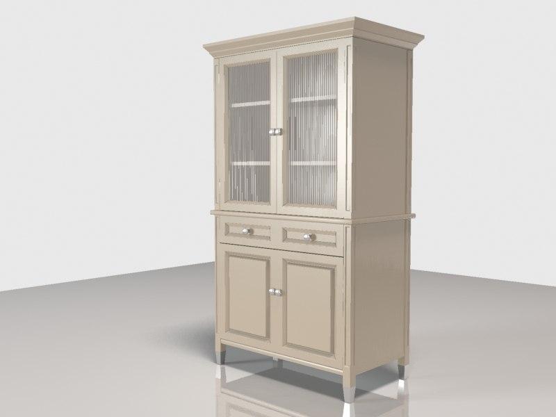 door hutch cabinet 3d 3ds