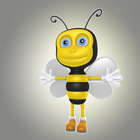 3d simple cartoon bee animation