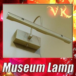 3d model of museum lamp