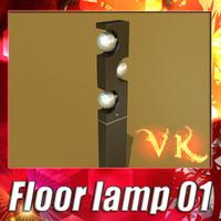 3d modern floor lamp 01 model
