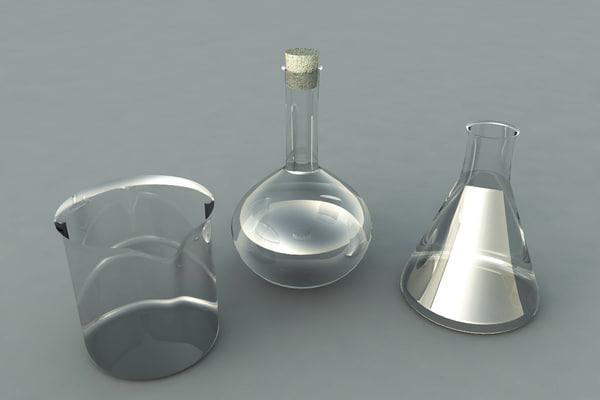 3d chemistry glasses model