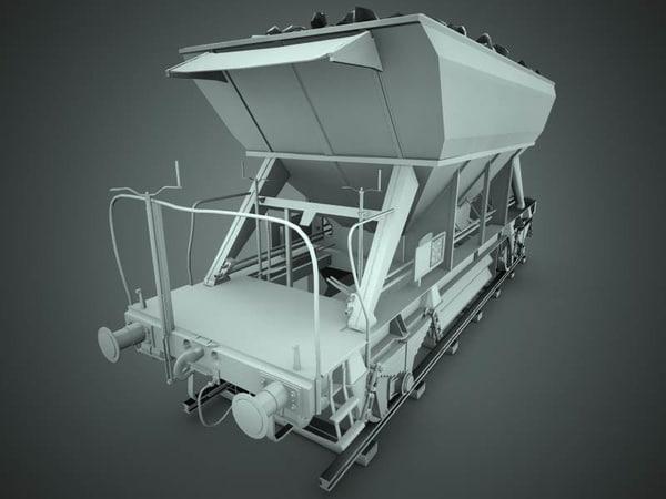 3ds max industrial rail wagon