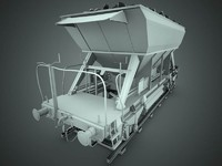 3ds max industrial rail wagon