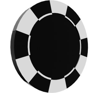 poker chip 3d obj