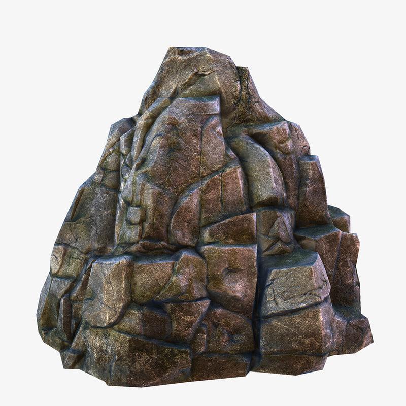 3d ready rock model
