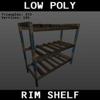free rim shelf 3d model