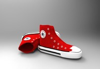 3d converse shoe red