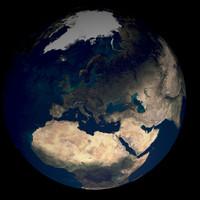 world planet 3d obj