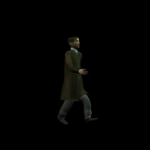3d model people previz animation