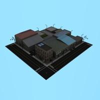 3d blocks city buildings