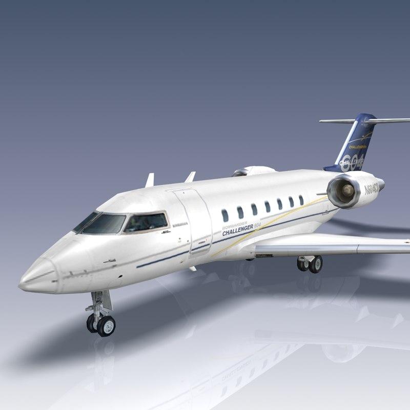 challenger bombardier 3d model
