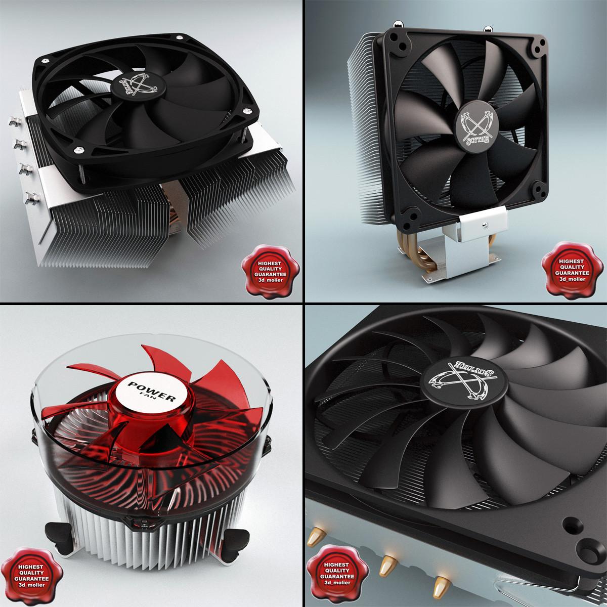 3d model cpu coolers v1