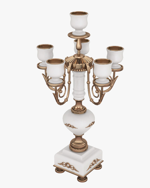 candlestick candle mangani 3d model