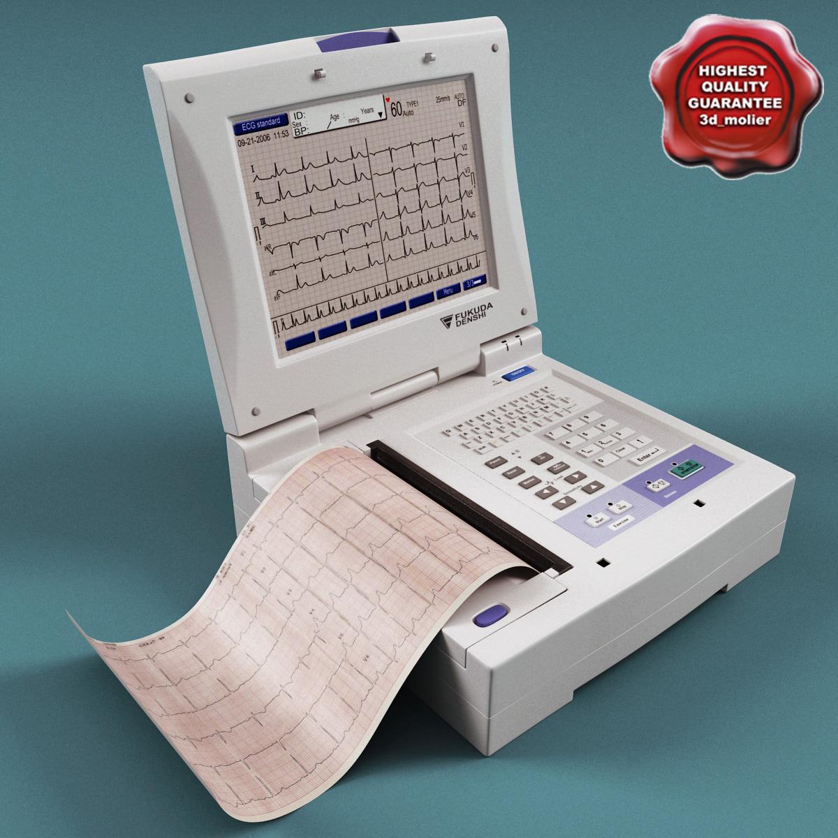 3d electrocardiograph fukuda denshi