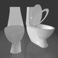 3d model of flush toilet