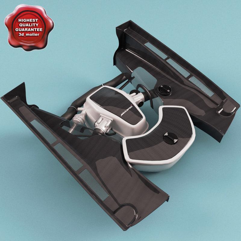 3d model of mclaren engine