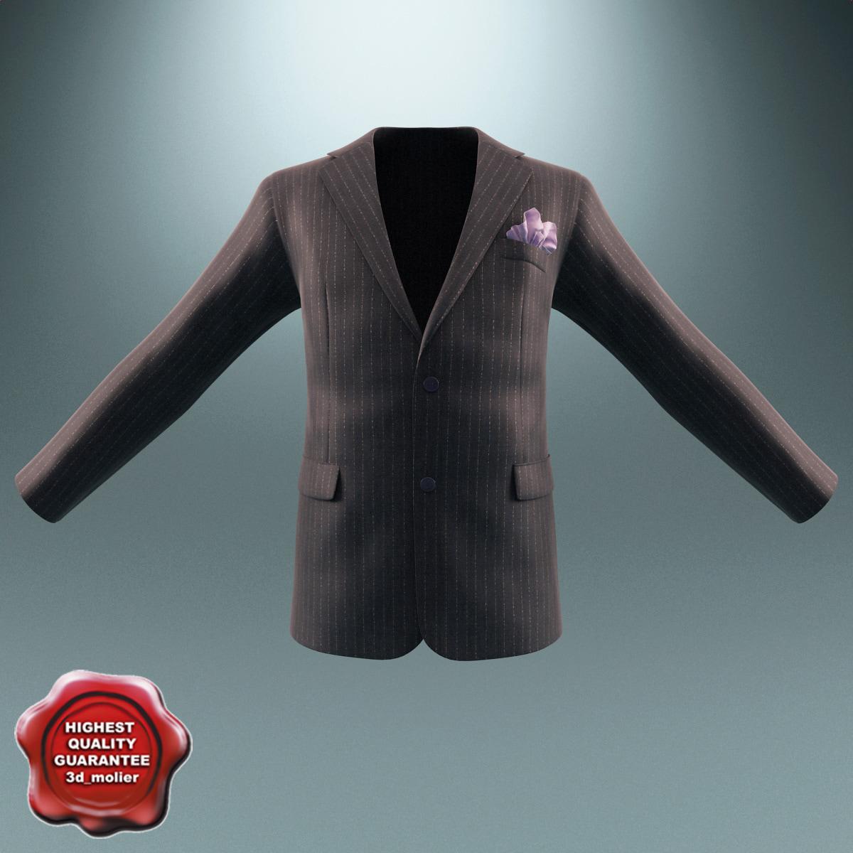 3d men jacket v3 model