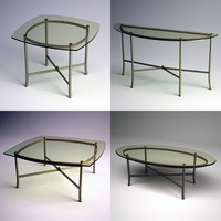 Metal & Glass Occasional Table Bundle
