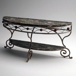 metal ball scroll console table 3ds