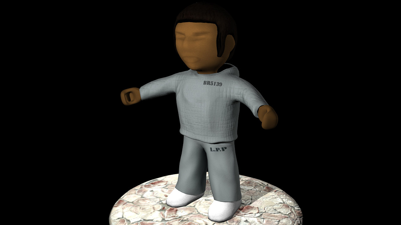 3d model of prison character