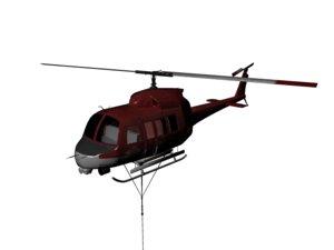 maya uh 1 huey helicopter