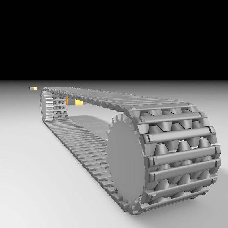 free military vehicle tank tracks 3d model