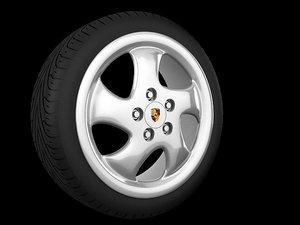 3d techno wheel model