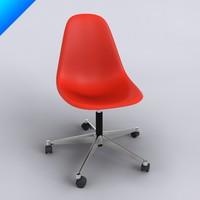 plastic chair pscc 3d model