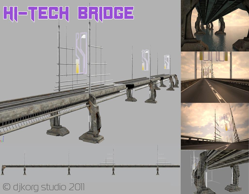 bridge hi tech 3d obj
