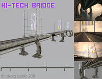 bridge hi tech 3d obj