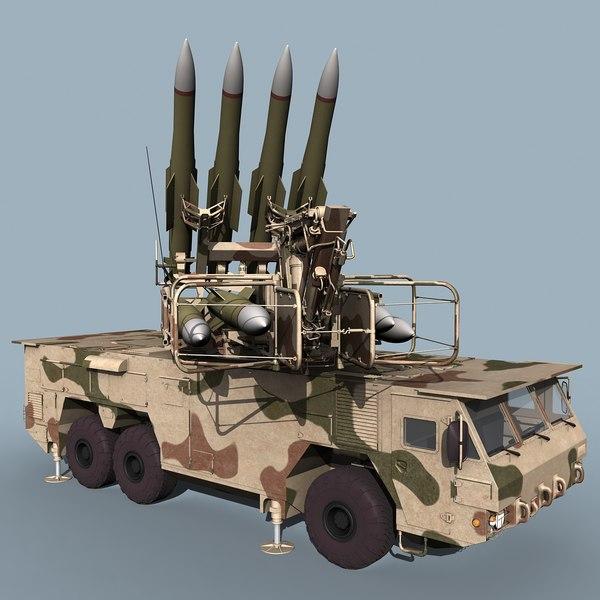 3d russian sa-17 buk-m2e