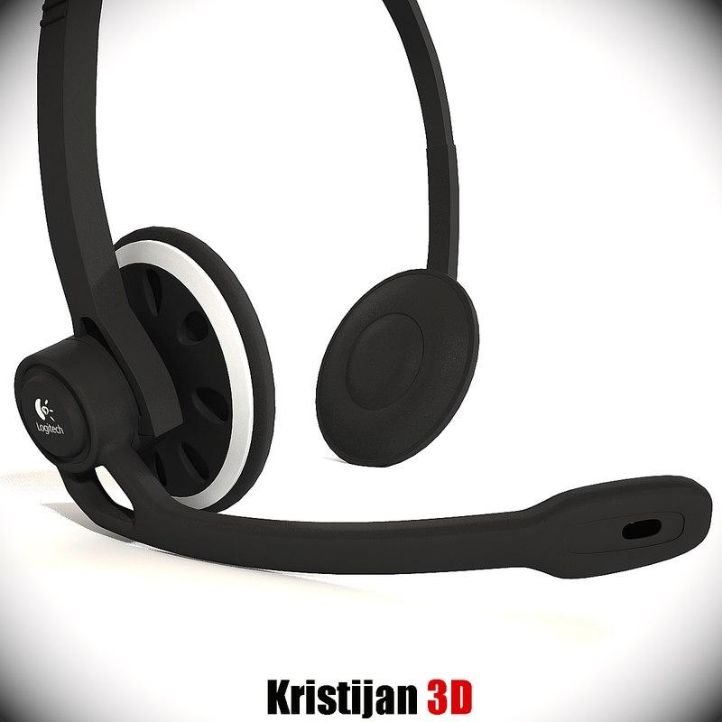 logitech headset 3d 3ds