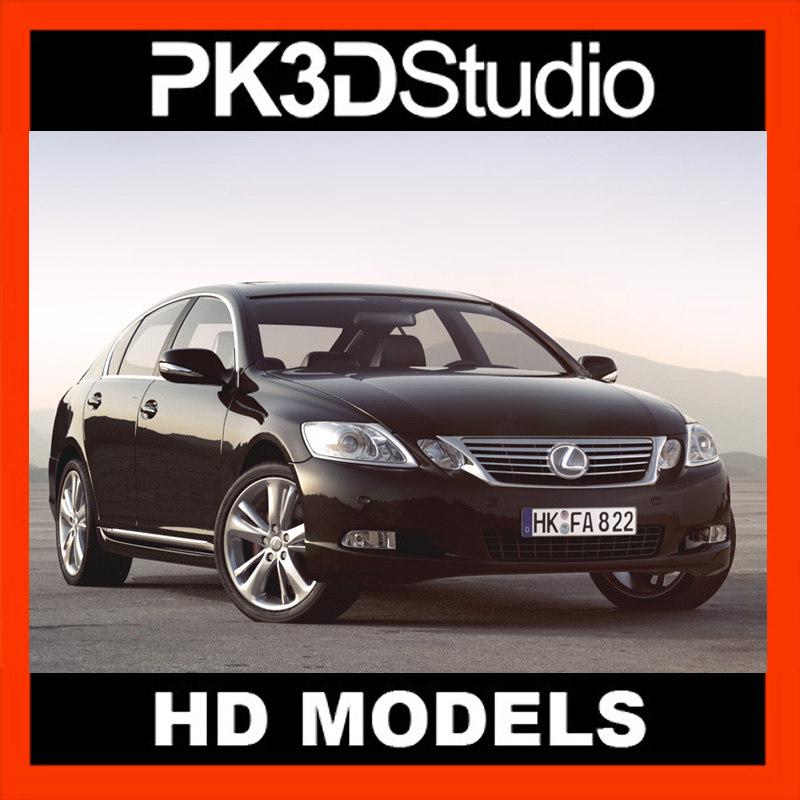 3d lexus gs car