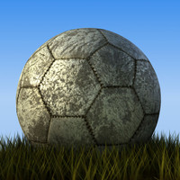 old soccerball 3d max